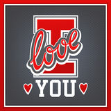 I love you. Lettering I Love You athletic style royalty free illustration
