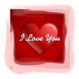 I Love You. Heart with I love you text vector illustration