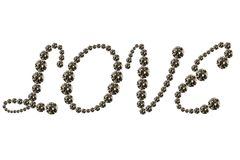 I love you. Written 'love' by using several diamonds Stock Images