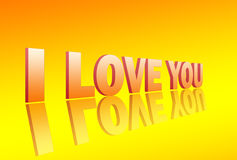I Love You 3d Stock Photos