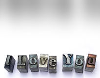 I Love You. Type stock photos