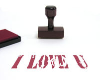 I Love You. A photo of a I Love You stamp Royalty Free Stock Photos