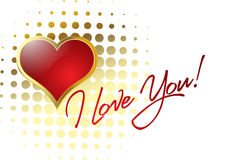 I love you. Words of I LOVE U on isolated background vector illustration