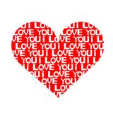I Love You. An illustration of an heart Stock Images