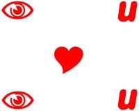 I love you. Symbols on white background Royalty Free Stock Photos