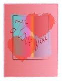 I Love You. Card or background vector illustration