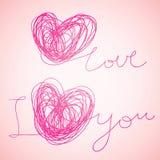 I love you. Written vector text Stock Photo