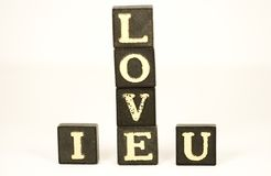 I Love You. Letters spelling 'I LOVE YOU stock photo