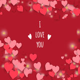 I love you. Abstract hearts background. Royalty Free Stock Photo
