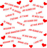 I love you in all the languages of the world vector illustration