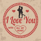 I Love You with All My Heart sign or label Stock Photo