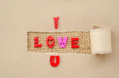 I love you alphabet Stock Photo