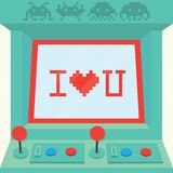 I love you arcade machine isolated vector Stock Image