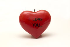 I LOVE YOU on the aromatic candles in the shape of a heart Royalty Free Stock Photography