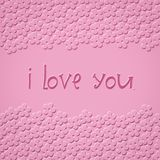 I love you - art illustration Royalty Free Stock Images