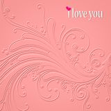 I love you - art illustration Stock Photography