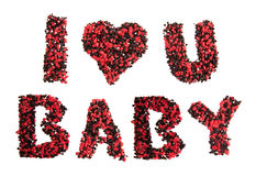 I love you baby sign Stock Photography