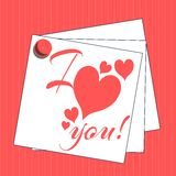 I love you background with hearts Stock Image