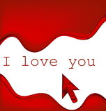 I love you background Stock Photo