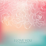 I love you background 02. I love you. Festive  background. Pastel colors Stock Images