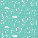 I love you background with hearts and arrows Royalty Free Stock Images