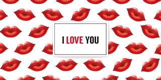 I Love You background Stock Images