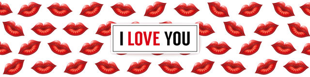 I Love You background Royalty Free Stock Photography