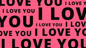 I love you background. Pink  illustration. Royalty Free Stock Photography