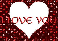 I love you background in red tones Stock Photo