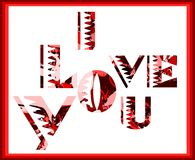 I love you background in red tones Stock Image