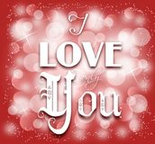 I Love Only You Background Royalty Free Stock Photos