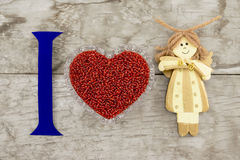 I love you (background on Valentine's Day) Stock Photos