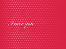 I love you background vector Stock Images