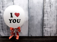 I love you balloon for Valentine Stock Photography