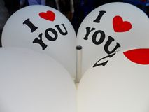 `I love You` balloon Royalty Free Stock Photography