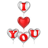 I love you balloons Stock Photo