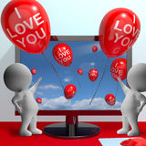 I Love You Balloons Shows Love And Online Dating Stock Images