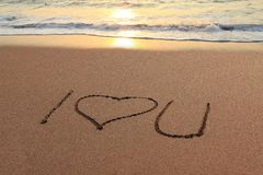 I love you beach Royalty Free Stock Photo