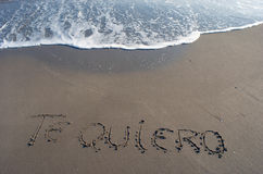 I love you. Beach Royalty Free Stock Photography