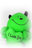 I love you bear. A green bear saying I Love You Royalty Free Stock Images
