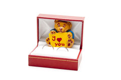 I love you bear in the case Royalty Free Stock Images