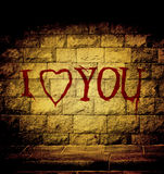 I love you blood text Royalty Free Stock Photo