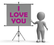 I Love You Board Means Romance And Dating Royalty Free Stock Photos