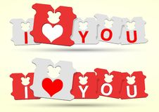 I love You Bread Clip royalty free illustration