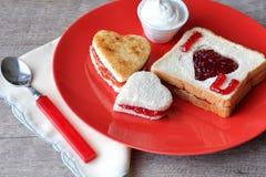 I love you breakfast Stock Photos