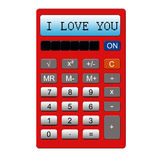 I Love You Calculator Stock Photos