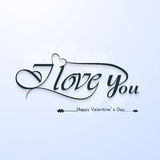 I Love You calligraphic headline text  valentines. I Love You calligraphic headline text and happy valentines day lettering Stock Photo