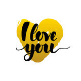 I Love You Calligraphy Card Stock Image