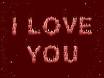 I LOVE YOU candles Stock Image