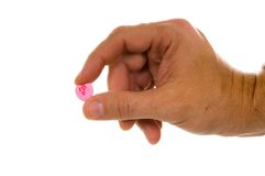 I Love You Candy Heart Stock Photos